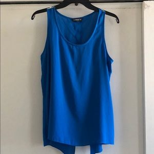 Blue Express Tank with slit in back
